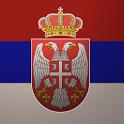 3D Serbian Flag icon