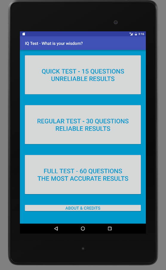 IQ Test - What is your wisdom?- screenshot