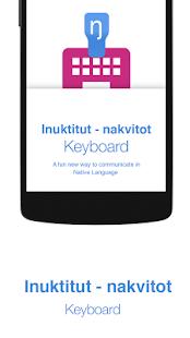 Inuktitut - nakvitot Keyboard - náhled