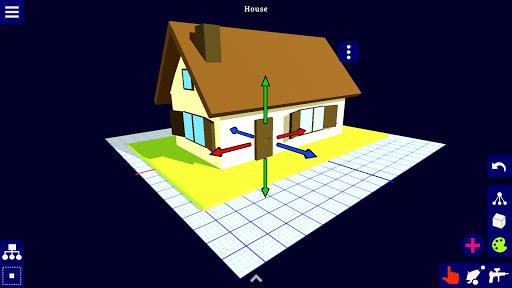 مصمم ثلاثي الأبعاد - لقطات شاشة للنمذجة ثلاثية الأبعاد 3
