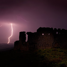 Stormy night by Zarko Piljak - Landscapes Weather ( milengrad, hrvatsko zagorje, storm )
