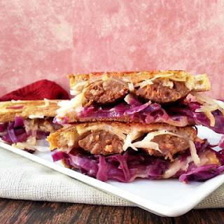 Spicy Bratwurst Reuben Sandwich