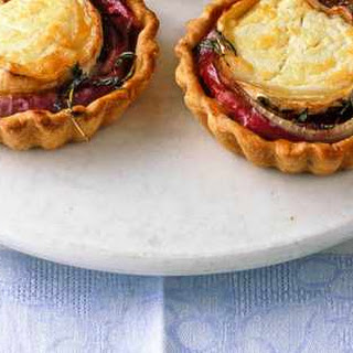 Goat's Cheese and Red Onion Tarts.