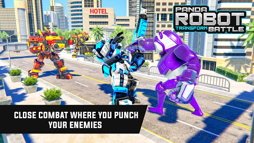 Police Panda Robot Car Transform: Flying Car Games apktram screenshots 17