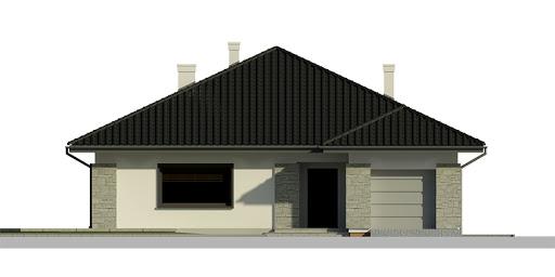 Dom przy Słonecznej 3 - Elewacja przednia