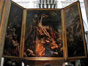 Photo: Peter Paul Rubens was the most famous of Antwerp artists. The cathedral has several of his works, including the Raising of the Cross triptych.