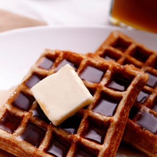 Whole Wheat Waffles with Honey Cinnamon Syrup