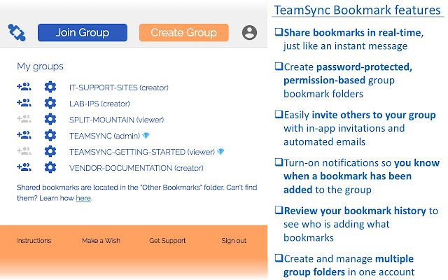teamsync bookmarks chrome web store