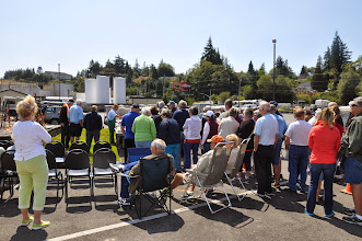 Photo: People at the salmon bake
