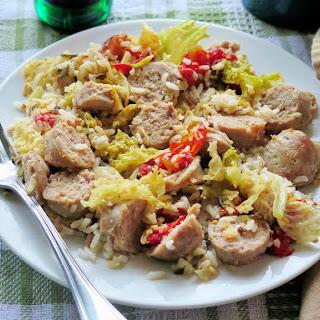 Turkey Sausage and Braised Cabbage