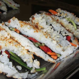 Inside Out Sushi Sandwich