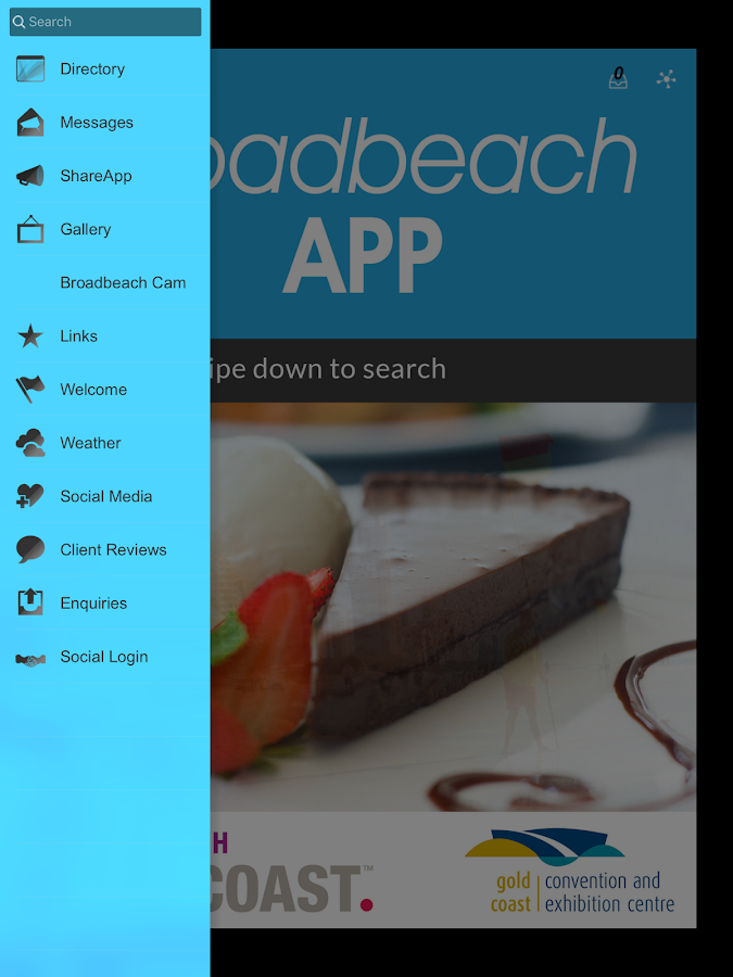 Broadbeach App- screenshot