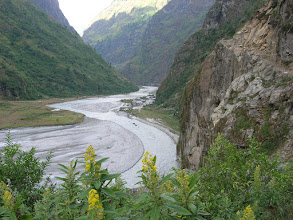 Photo: The village of Tal (1675 metres), along the Marshyangdi river