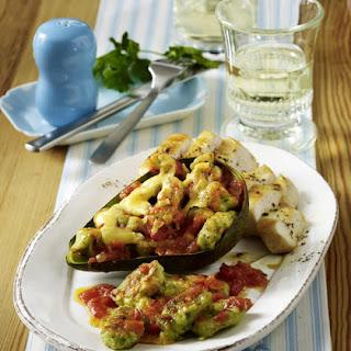 Chicken with Avocado Gnocchi Gratin.