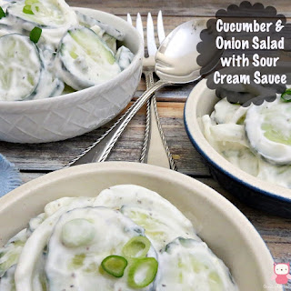 Cucumber & Onion Salad with Sour Cream Sauce