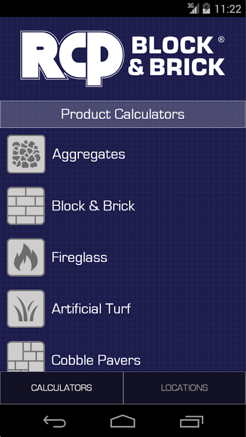 RCP Product Calculators- screenshot