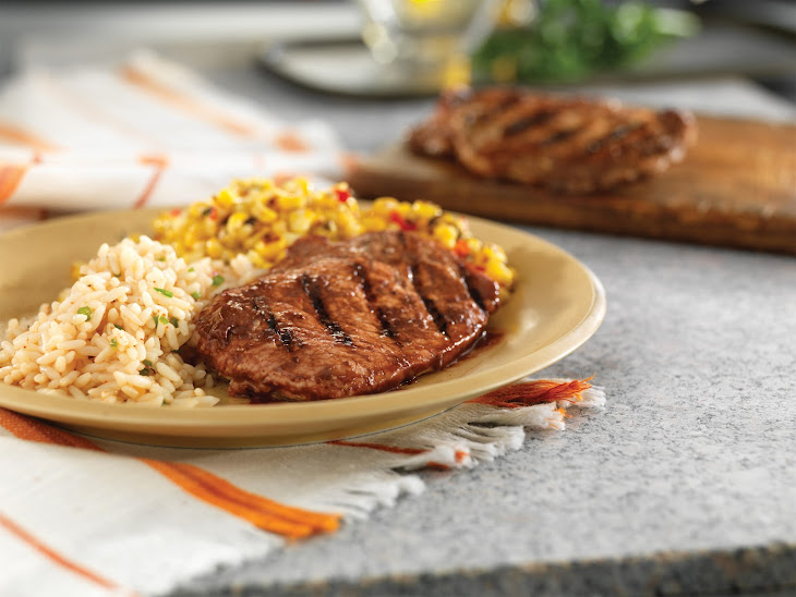 Grilled Ribeye Chops with Mole Sauce Recipe