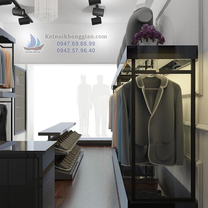 thiết kế cửa hàng thời trang công sở nam