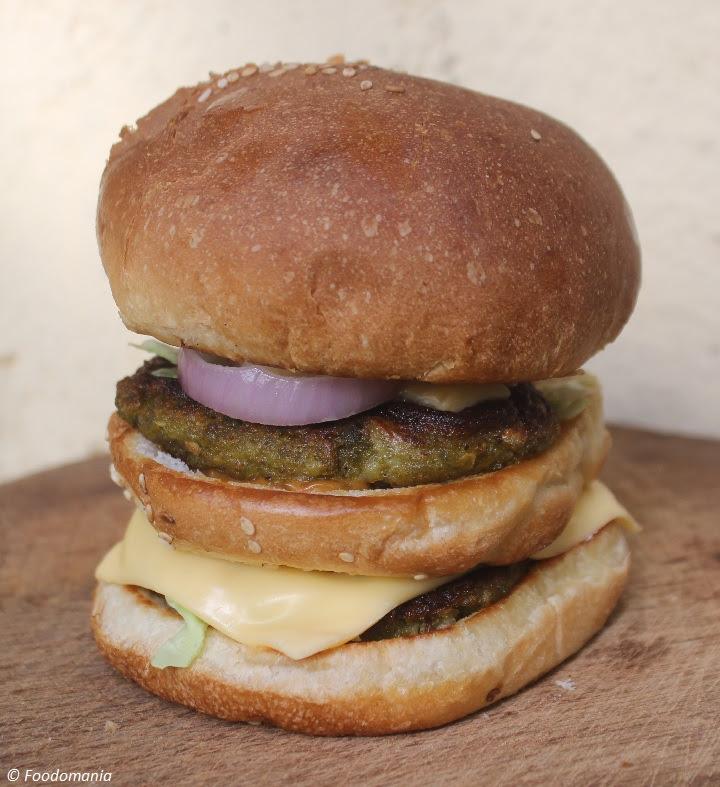 Veg Maharaja Mac Recipe | Double-Layer Vegetarian Indian-style Burgers