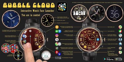 Bubble Cloud Wear Launcher Watchface (Wear OS) 9.39 screenshots 3