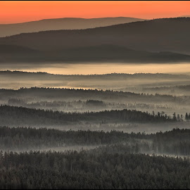 z Pancíře by Petr Klingr - Landscapes Sunsets & Sunrises ( foggy, sunrise, mountain, hdri, autumn, morning )