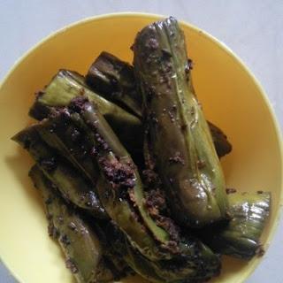 3 Step Barwa baigan (stuffed eggplant/brinjal