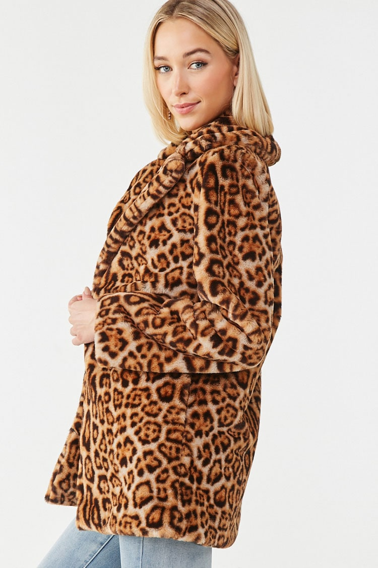 Image result for leopard print coat forever 21