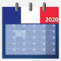 Calendrier français 2020 gratuit avec fériés icon