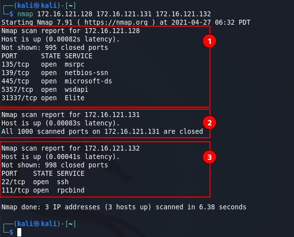 Nmap commands - multiple target scan M1. Source: nudesystems.com