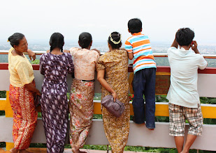 Photo: Year 2 Day 55 -  Other Tourists at the Top of Mandalay Hill