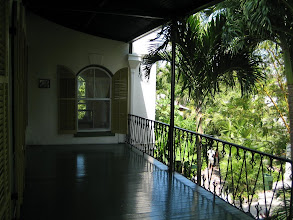 Photo: The large second floor veranda of Hemingway's house