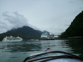 Photo: Cruise ships at the docks in Skagway.