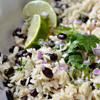 One Pot Black Beans and Cilantro Lime Rice.