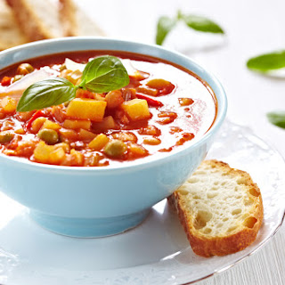 Rustic Vegetarian Soup with Bread