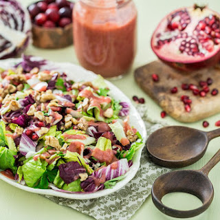 Radicchio Salad with Cranberry Orange Dressing