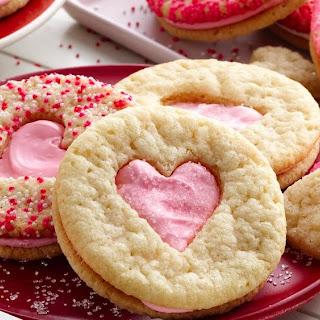 Valentine Heart Sandwich Cookies.