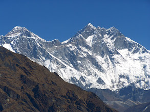 Photo: L'Everest et le Lhotse vus de Khumjung