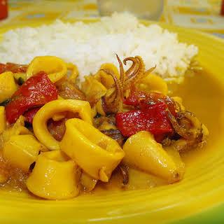 Squid Curry.
