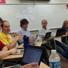 "Photo: #edcampmke sharing classroom successes in ""edCamp Karaoki"" by ahsnelson"