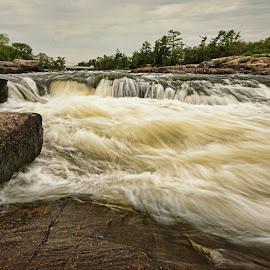 Rush by Carl Chalupa - Nature Up Close Water ( rapids, rushing water, water )