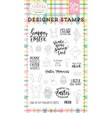 Echo Park Easter Wishes Clear Stamps 4X6 - Easter Memories UTGÅENDE