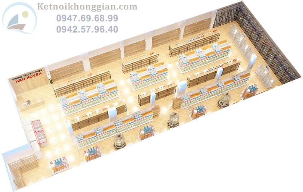 Thiết kế siêu thị mini chuyên nghiệp