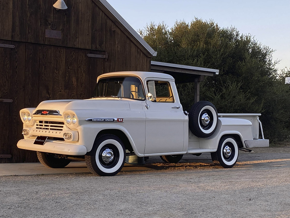 1959 Chevy Apache step side long bed Hire CA 92078