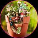 The magic of fairy garden icon