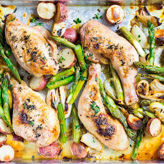 Sheet Pan Chicken with Asparagus and Potatoes Recipe