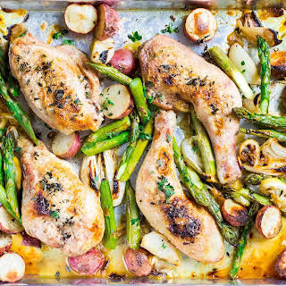 Sheet Pan Chicken with Asparagus and Potatoes.