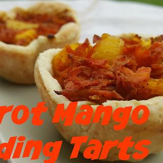 Carrot Mango Pudding Tarts