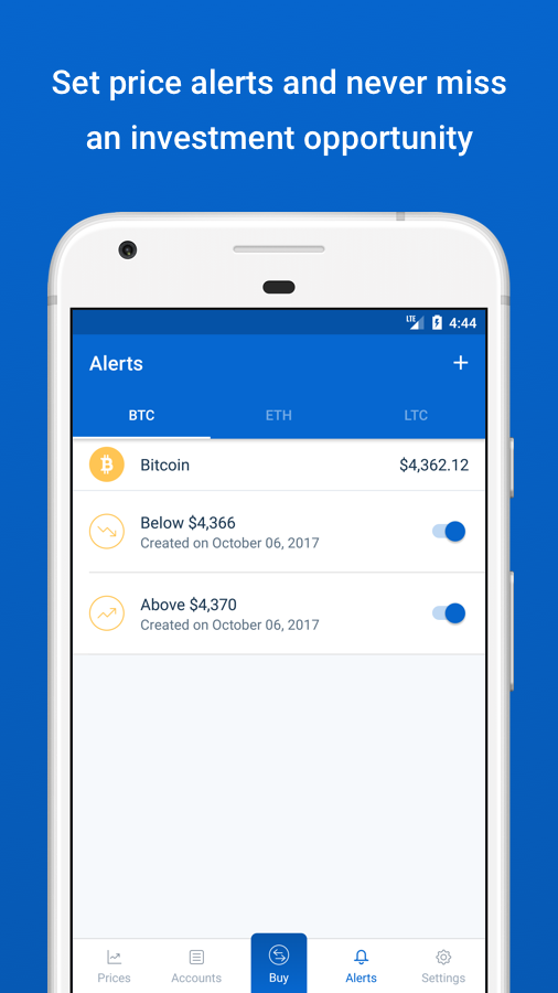 Coinbase - Buy Bitcoin & more. Secure Wallet.- screenshot