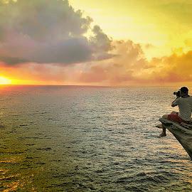 Sunrise in my lens by Blue Bell Bantigue - Nature Up Close Rock & Stone ( #thewondersofsunrise, #beautifulworld, #birisamarphilippines, #sunrisephotography, #chasingsunrise )
