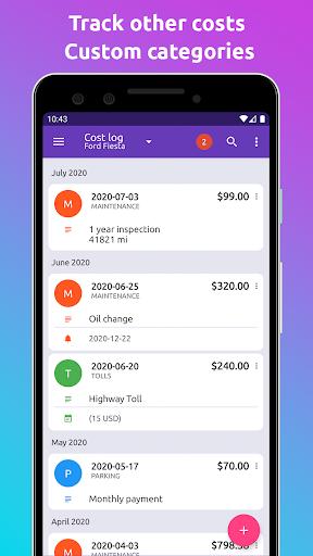 Fuelio: gas log, costs, car management, GPS routes screenshot 3